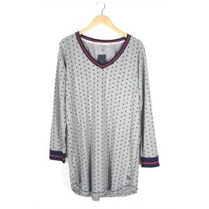 Tommy Hilfiger Thermal Sleep Shirt Gown Hearts L